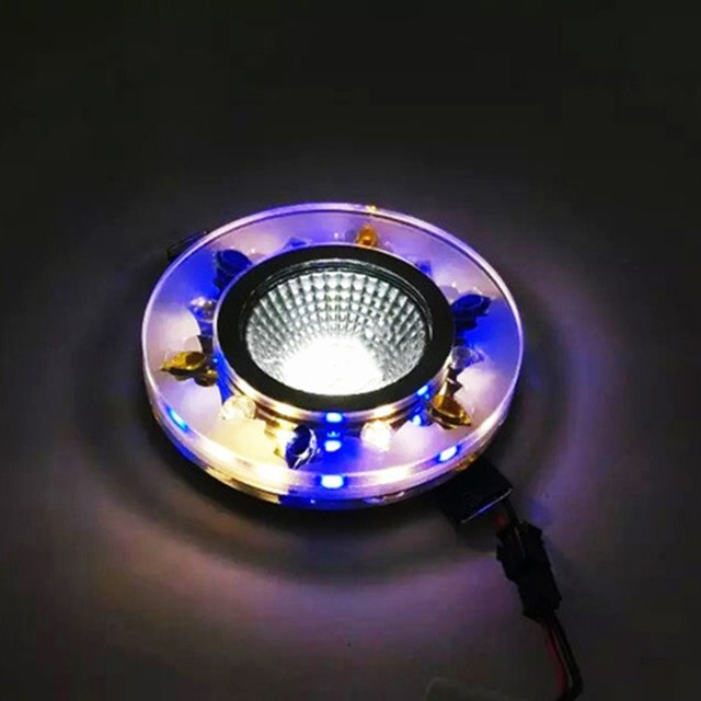 ICOCO LED Downlights Side Ceiling Light Spot Round Surface Mounted Crystal Cabinet