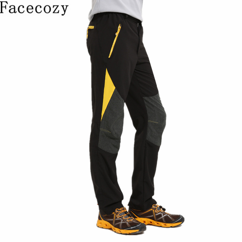 Facecozy Men Summer Outdoor Quick Dry Pants Patchwork Hiking Camping Trousers Breathable Elastic Trekking Fast Dry Sportwear  summer women spring trecking quick dry hiking shirt woman fishing pant sportwear camping trousers suit plus size shirt pant s21