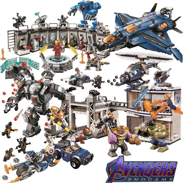 New Avengers 4 LOGOINGs Número Endgame 2 Super Herói Final Do Jogo Homem De Ferro Vingadores Thanos Spiderman Batman Building Blocks Brinquedos