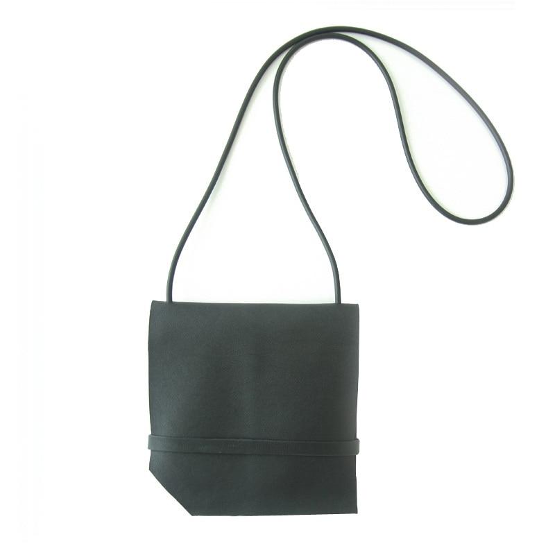 ФОТО 2016 Winter new arrival cowhide black color messenger bag mini flap shoulder bag genuine leather material LY-0093
