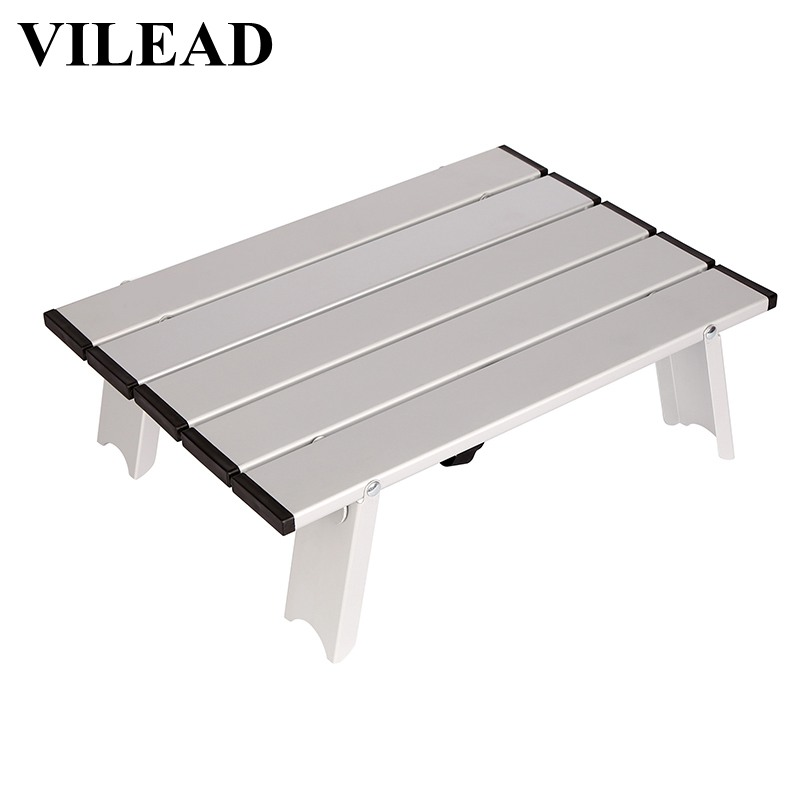 VILEAD Portable Mini Picnic Table For Beach Camping Travel 7075 Aluminum Ultralight Folding Waterproof Foldable Table 40*29*12cm