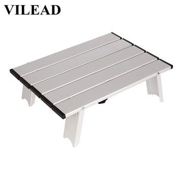 Vilead Portatile Mini Tavolo da Pic Nic per La Spiaggia di Campeggio di Viaggio 7075 di Alluminio Ultraleggero Pieghevole Impermeabile Pieghevole da Tavolo 40*29*12 Centimetri