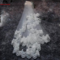 short Wedding Accessories White Bridal Veil short Wedding Veil Lace Appliques soft Tulle Bridal Veil In Stock