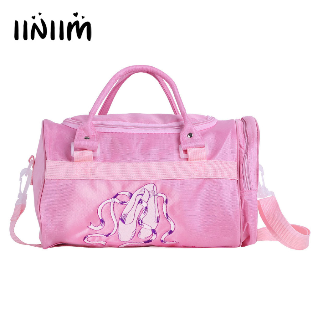 Kids Girls Ballerina Ballet Slippers Dance Bag Hand Bag Shoulder Bag with Detachable Strap Gymnastics Leotard Dancing Bag