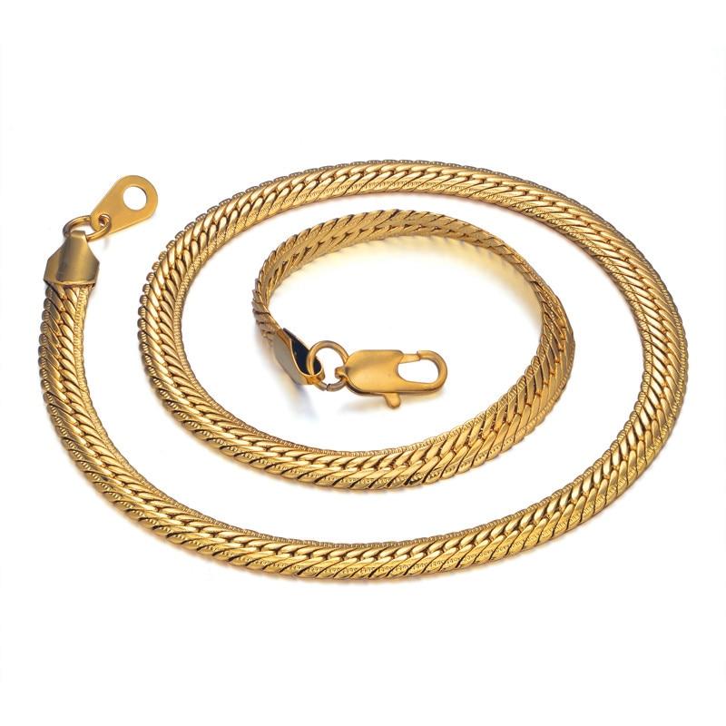 Hiphop Gold Chain miesten Hip Hop ketjun kaulakoru 8MM kulta väri - Muotikorut - Valokuva 4