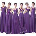 Elegant Purple Bridesmaid Dresses Long formal Chiffon Purple Bridesmaid Dress cheap bridesmaid dresses under 50