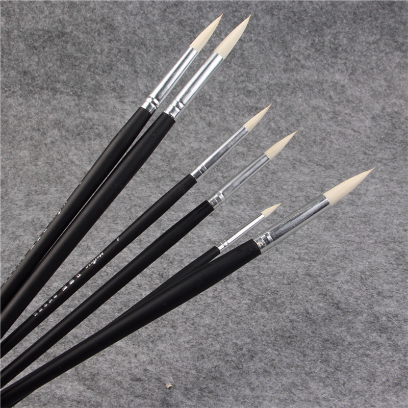6pcs/Set Goat Hair Paintbrush Suit Art Supplies Watercolor Gouache Painting Pen Acrylic Brush Set Drawing Art Supplies