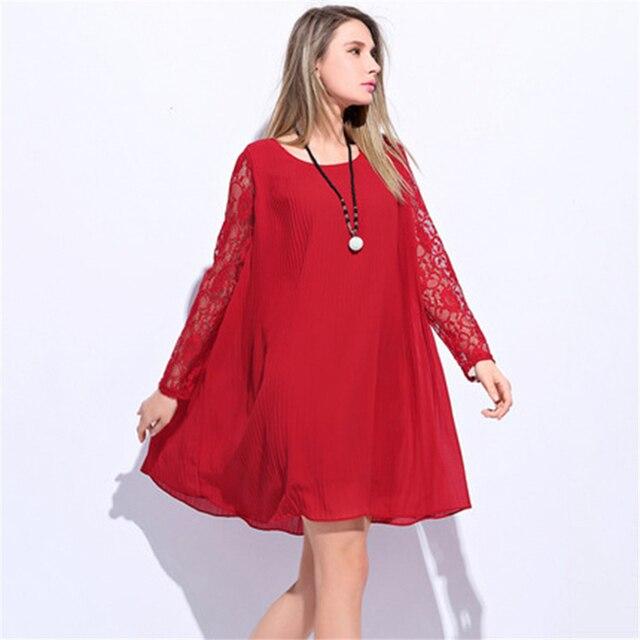 3263d367017b US $34.89 |Frauen kleider herbst frühling kleidung spitze dress rot schwarz  sexy neue schwangerschaft kleider mutterschaft kleidung mode design ...