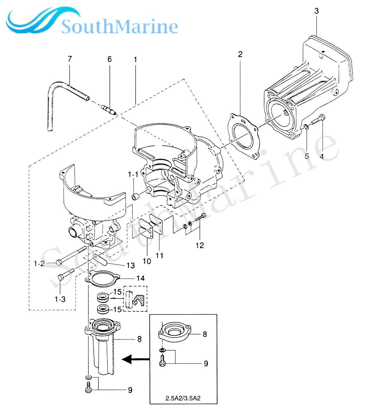 Tohatsu outboard parts diagram and parts list enthusiast wiring rasalibre  co eska outboard eska engine parts