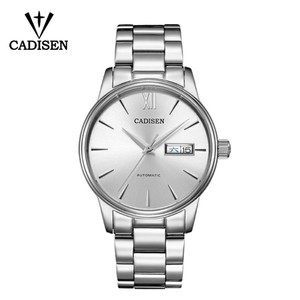 Image 2 - CADISEN Reloj de marca Original para hombre, automático, de acero inoxidable, resistente al agua hasta 5atm, de negocios, C1032
