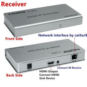 Image 3 - 1080P HDMI Extender Transceiver Adapter200m 1TX: NRXs CAT5e/6 LAN RJ45 kabel Lan Anschluss IR Control Für DVD CCTV Kostenloser Versand