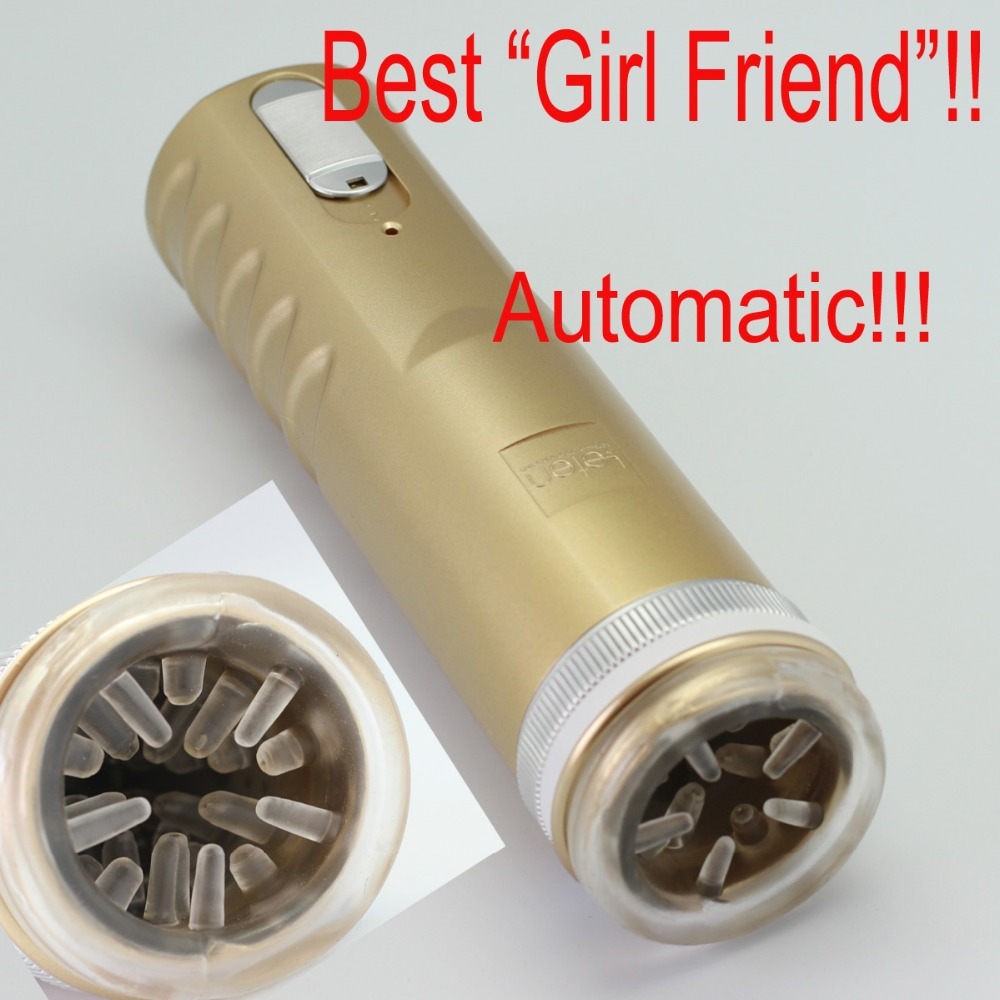 Gold Electric Retractable Male Masturbator Pussy Cup, Piston Fully-automatic Sex Machine, Sex toys for men, Adult Sex toys X-9B electric automatic retractable male masturbator cup vagina anal sex toys for men sex products