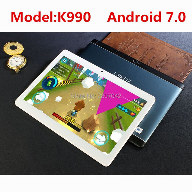 """10 inch Tablet PCs 3G/4G WCDMA Octa Core 4GB RAM 64GB ROM 5.0MP Android 7.0 GPS 1920*1200 IPS Tablet PC 10 10.1"""" +Gifts"""