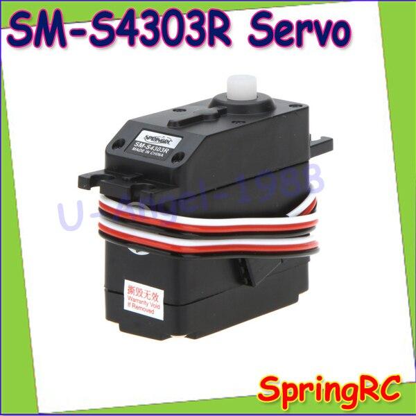 1pcs Original Spring SM-S4303R JR interface 360 Robot Servo Large Continuous Rotation for 25T Futaba Servo Arm Wholesale rotation movements of robot manipulators in 1