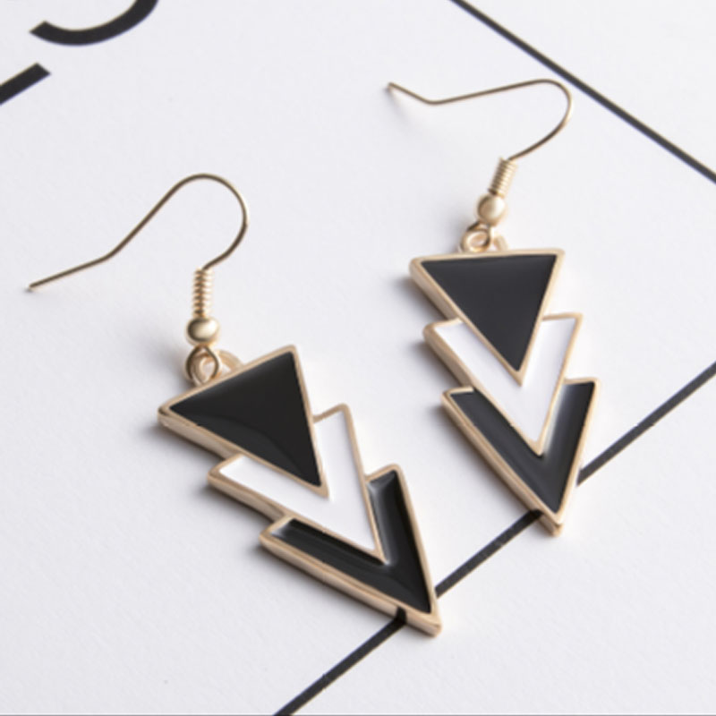 19 Fashion Big Gold Silver Pearl Drop Earrings Wedding Jewelry Tassel Statement Geometric Long Metal Earrings for Women 8