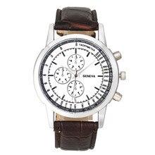 Men Watch Fashion Men Business Design Dial Leather Band Analog Quartz Wrist Watch dropshipping free shipping