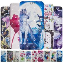 Colorful Phone Bags sFor Huawei P20 P30 Pro P Smart Plus P8 Lite 2017 Honor 8A 8C 8X Y7 Y6 2019 Mate 20 Card Slot Capa D06G