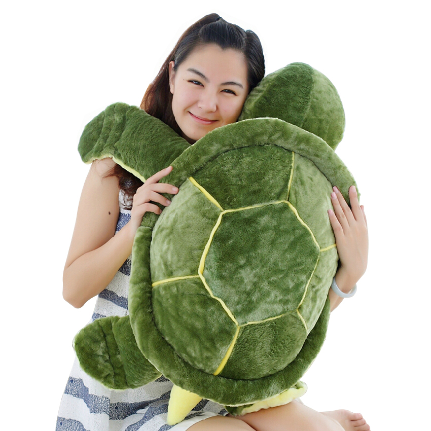 Huge Size Plush Tortoise Toy Cute Turtle Plush Pillow Staffed Cushion for Girls Vanlentine's Day Gift 1pcs 10 25cm small size turtle plush tortoise toy cute turtle plush pillow stuffed toy cushion for girls vanlentine s day gift