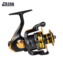 K8356 HOT SALE! Spinning Reel Fishing Reel 2000/3000/4000/5000 5.5:1 Spinning Reel Casting Fishing Reel Lure Tackle Line