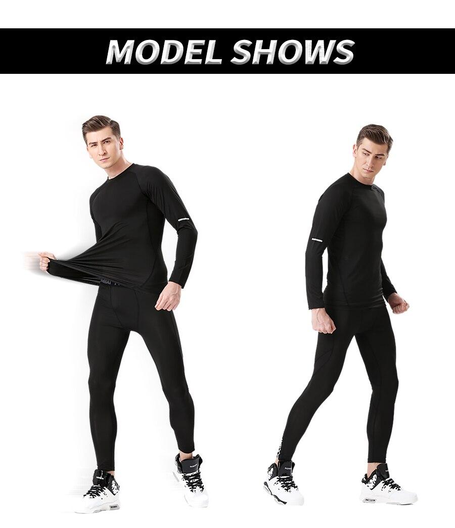 ... ropa Jogging chándal sarpullido deporte Kit. tight compression. Alta  compresión elástica traje. reflecable compression suit. Pestaña  reflectante 5dc217adbcee2