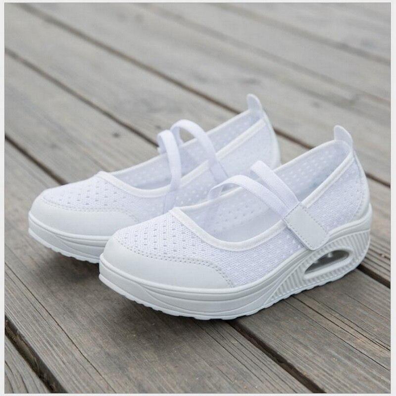 Mesh blanc Air Red Casual Nouvelles Noir Rushiman D'été Chaussures Femme purplish Lace Up Femmes Respirant forme Plate Sneakers Plat vwSaqgwxz