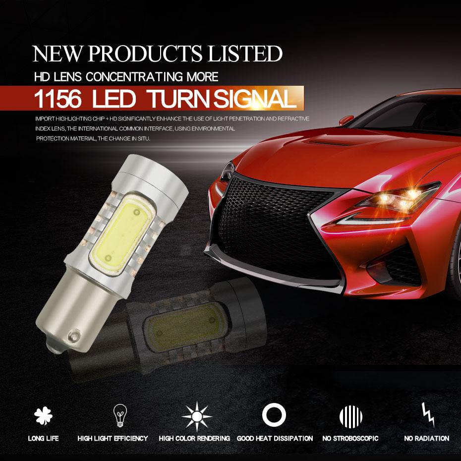 2X 1157 Strobe Bulbs 1156 Ba15S 1157 BAY15D Led COB 12V LED Light Car Turn Brake Strobe Flash Bulb Tail Light Led Lamp (6)