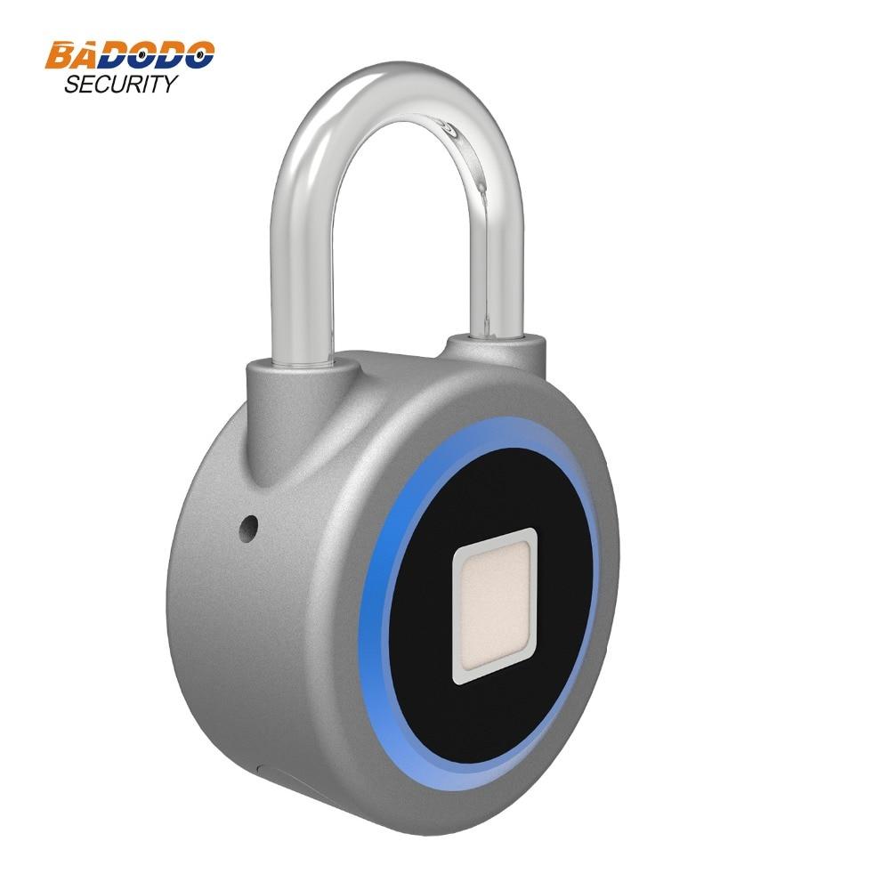 Image 5 - Waterproof Keyless portable Bluetooth smart Fingerprint Lock padlock Anti Theft iOS Android APP control door cabinet padlock-in Electric Lock from Security & Protection