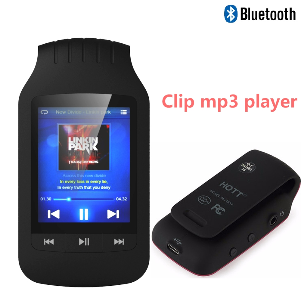 Portable Bluetooth mp4 player with Clip 8GB Sport Pedo Meter FM Radio Video Player Ebook mp4