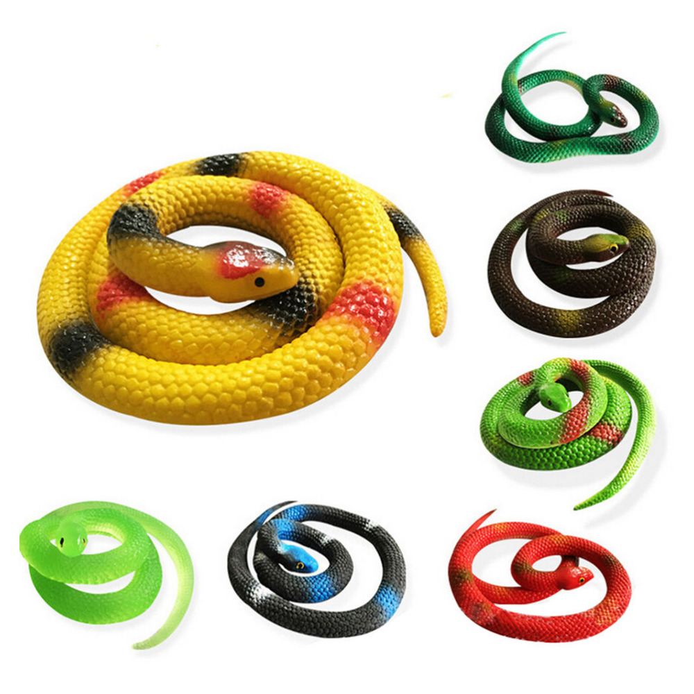 Subcluster 5 Pcs Set Simulation Snake Rubber Fake Funny April Fool Joke Funny Gags Trick Toys in Gags Practical Jokes from Toys Hobbies