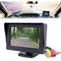 Mini HD Monitor Del Coche Plegable de Color Sistema Del Estacionamiento Del Rearview Del Revés Del Coche de 4.3 pulgadas LCD Monitor de Cámara de visión Trasera