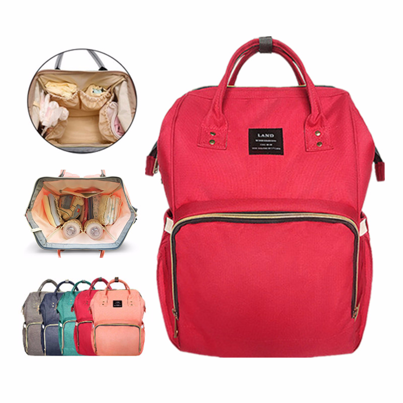 LAND Mommy Diaper Bag Large Capacity Baby Nappy Bags ...