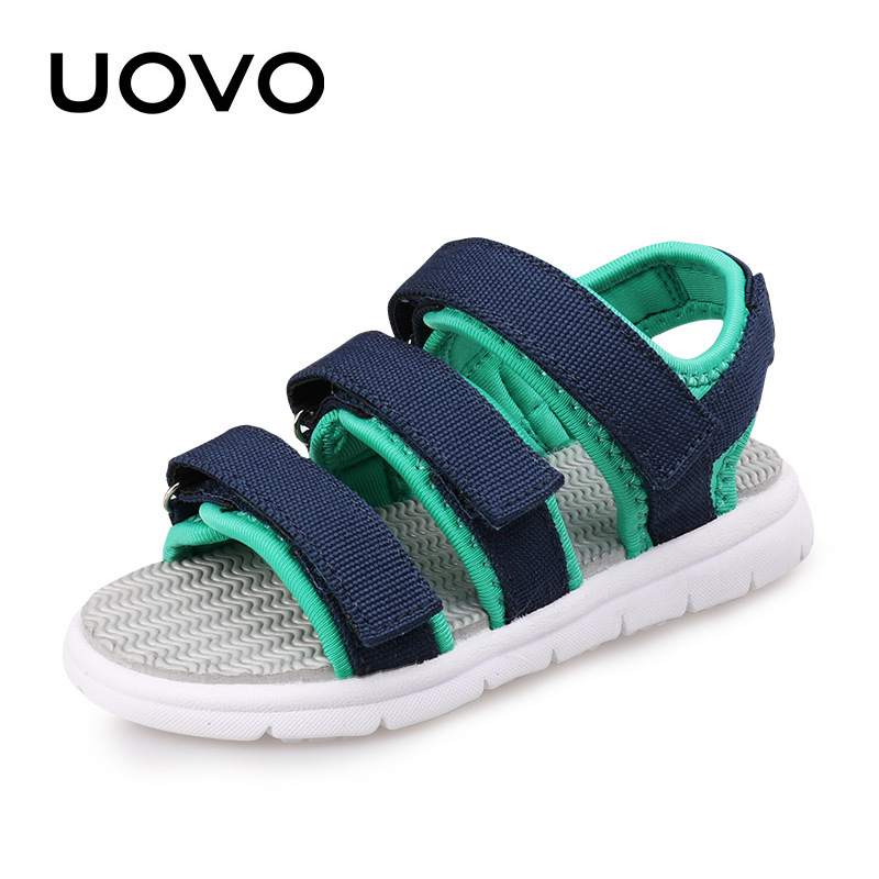 UOVO Brand 2017 New Kids Sandals Boys Canvas Sandals High Quality Fashion Beach Shoes Infant Sandals Child'S Summer Light Sole 0 18m toddler kids boys high crib shoes soft sole infant ankle canvas prewalker