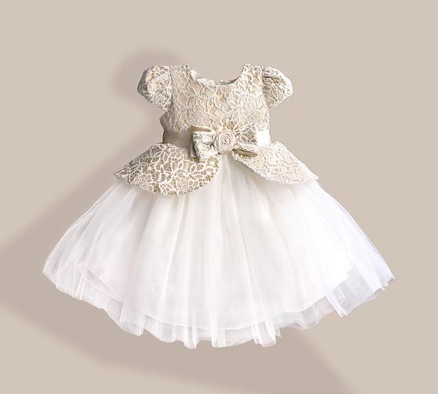 Flores de renda do bebê Meninas Vestido De leopardo Crianças Vestidos Estilo Meninas da Festa de Aniversário de Casamento de Natal Roupas para 1-5 anos