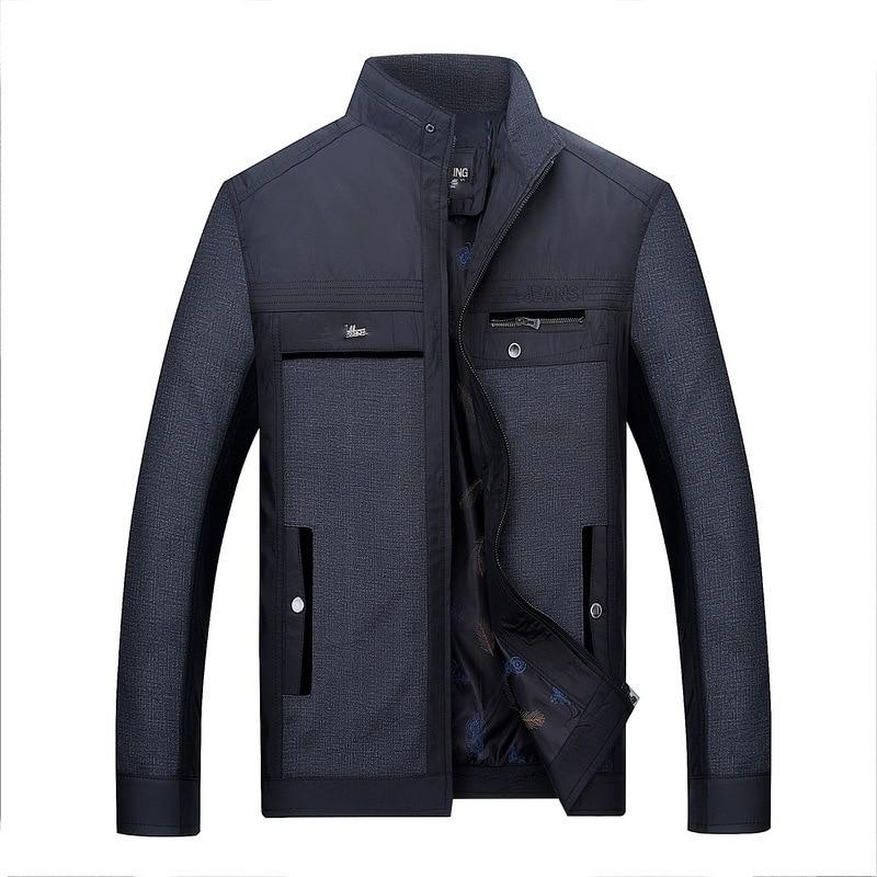 Solid color New Casual Jacket M-5XL Men Spring Autumn Outerwear Mandarin Collar Clothing chaqueta hombre jaqueta masculina