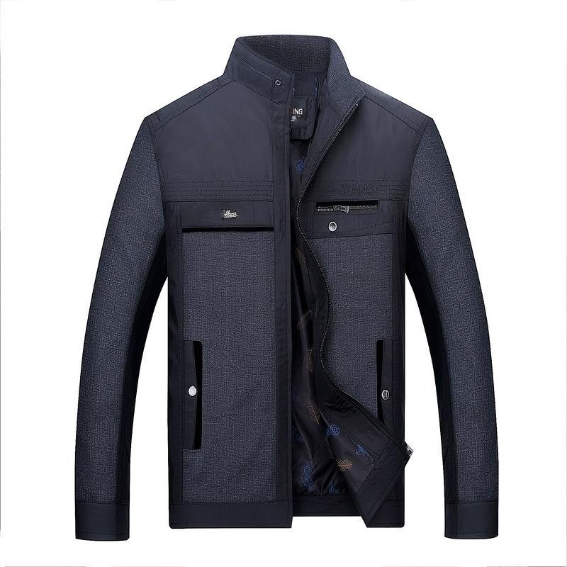 Solid color New Casual Jacket M-5XL Men Spring Autumn Outerwear Mandarin Collar Clothing chaqueta hombre jaqueta masculina