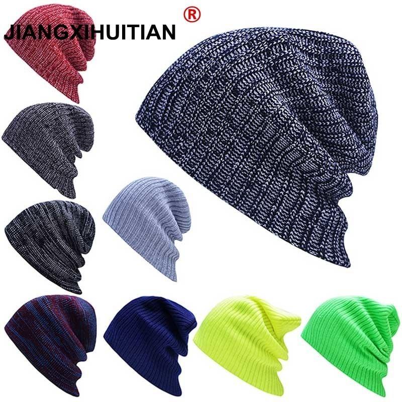 18 Colors Winter Caps Solid Color Stripe Hat Unisex Plain Hot Sweet Beanie Skull Knit Cap Hats Knitted Touca Gorro Caps For Men Belebende Durchblutung Und Schmerzen Stoppen