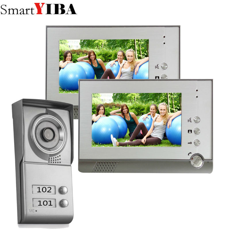 SmartYIBA 7 Video Door Intercom Doorbell Phone Wired Visual Video Intercom Speakerphone System Home Audio Apartment intercom