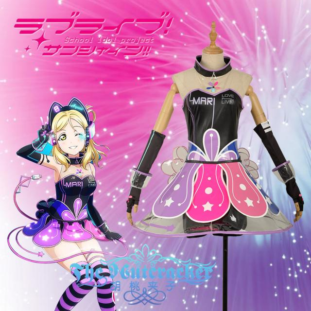 2017 New!Anime Love live Sunshine!!Aqours Video Game Awaken Figure Ohara Mari Halloween Cosplay Costume for women Free ship