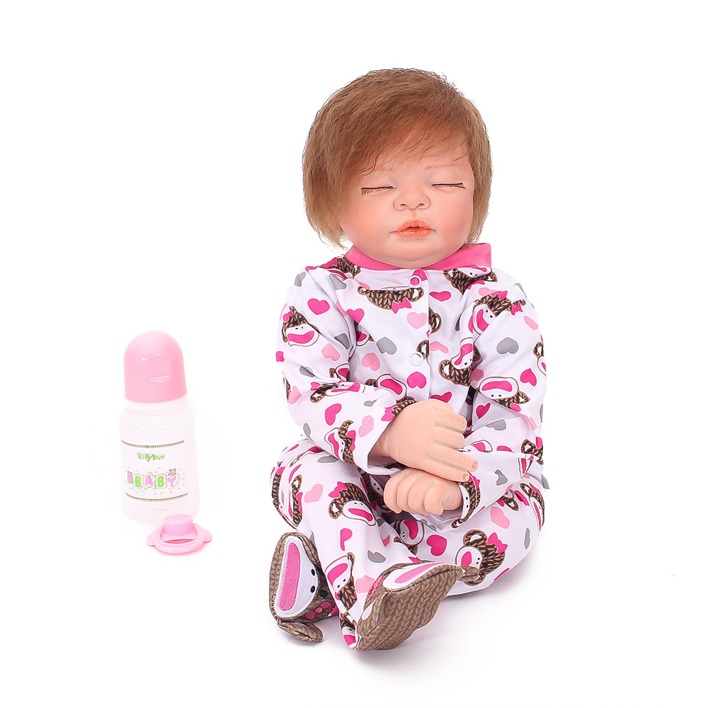 22inch 55cm Silicone Reborn baby boy girl dolls toys gift soft cotton body hair rooted Bebes reborn newborn dolls 22inch 55cm Silicone Reborn baby boy girl dolls toys gift soft cotton body hair rooted Bebes reborn newborn dolls