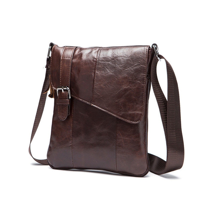 2016 Men's casual Genuine Leather Bags Men High Quality Messenger Bags Small Travel Black Brown Crossbody Shoulder Bag For Men limited buying mini casual bags multifunction leather messenger bag men s fashion pocket brown brand of small bags high quality