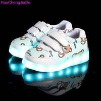 Kids Glowing Luminous Sneakers For Girls USB Charging Basket Led Toddler Children Shoes With Light Up