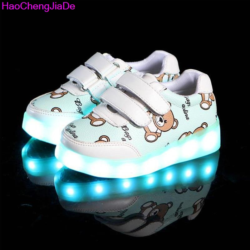 Kids Glowing Luminous Sneakers For Girls USB Charging Basket Led Toddler Children Shoes With Light Up Casual Boys lighting sole wholesale cheap lights up led luminous casual shoes high glowing with charge simulation sole for women