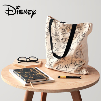 Genuine Disney Mickey Classic Retro Multi-function Simple Canvas Women Bag Canvas Bag Fashion Mummy Bag for Girls Gifts Hot Sale Bags Kids