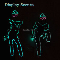 DIY Festival Party Clothes EL Wire 10 Color Select Laser Dance With EL Glasses Powered By