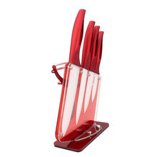 FINDKING Beauty Gifts Zirconia red handle Ceramic Knife with holder
