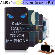 AiLiShi For Konrow Just5 5 Case Exclusive Painted Phone 5Leather Flip Credit Card Holder Wallet 6 Colors