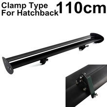 110cm 43'' Black Universal Double Deck Hatchback Car GT Rear Wing Racing Spoiler Lightweight Aluminum Clamp Trunk Cover universal black auto car double deck spoiler high quality aluminum gt rear trunk wing racing spoilers adjustable