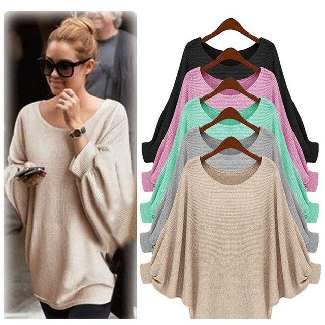 bbce9c281 Women Lady Clothing Tops Oversized Loose Long Sleeve Shirt Ladies ...