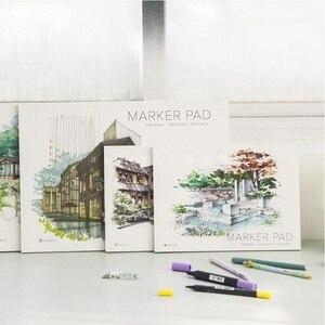 Image 1 - A3/A4 סמן עט מחברת אופנה סמן כרית 32 גיליונות עבה נייר (160g) צבע עפרונות מחברות