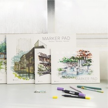A3/A4 Marker Pen Notebook Fashion Marker PAD 32 Sheets Thick Paper(160g) Color pencils notebooks
